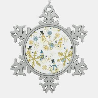 Schneemann-Zinn-Schneeflocke-Verzierung Schneeflocken Zinn-Ornament