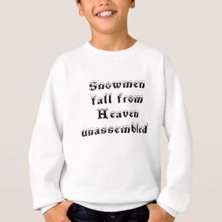 Schneemänner, Fall vom Himmel demontiert Sweatshirt