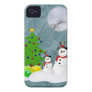 Schneemänner iPhone 4 Identifikations-Fall Case-Mate iPhone 4 Hülle