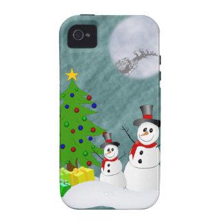 Schneemänner iPhone 4 starker Fall Vibe iPhone 4 Hülle