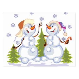 Schneemänner Postkarte