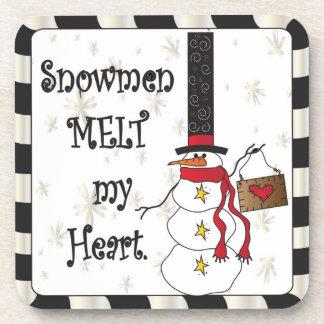 Schneemänner schmelzen Ihr Weihnachten des Herz-| Getränke Untersetzer