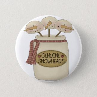 Schneemänner Snowheads Runder Button 5,1 Cm