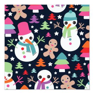 Schneemanningwerbrot-Weihnachtspostkarte Personalisierte Ankündigungen