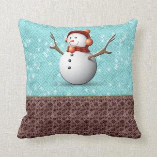 Schneemannkissen Kissen