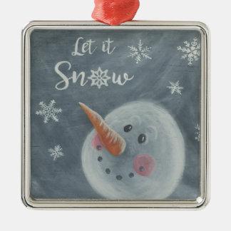 Schneemannverzierung Silbernes Ornament