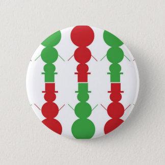 Schneemannweihnachten Runder Button 5,7 Cm