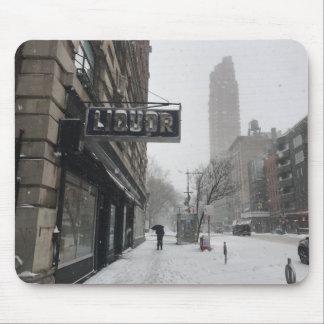 Schneesturm-Winter des Mousepad