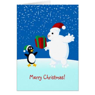 Schneeszene, frohe Weihnachten! Karte