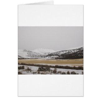 Schneeszene Karte