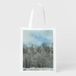 Schneeszenen-Einkaufstasche Wiederverwendbare Einkaufstasche