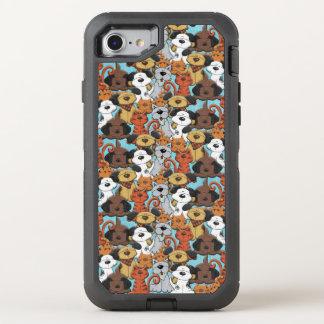 Schneiden Sie Brown-Tier-Muster OtterBox Defender iPhone 8/7 Hülle