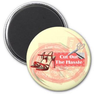 Schneiden Sie die Mühe - Magneten heraus Runder Magnet 5,7 Cm