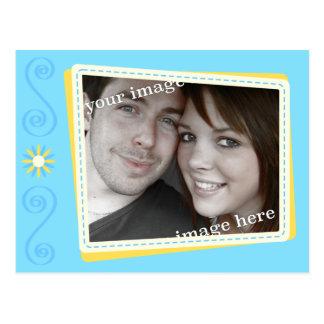 Schneiden Sie Einklebebuch-Save the Date Postkarte