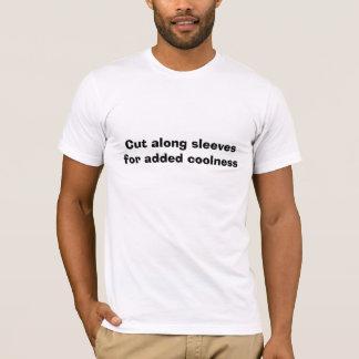 Schneiden Sie entlang Hülsen für addierte Kühle T-Shirt