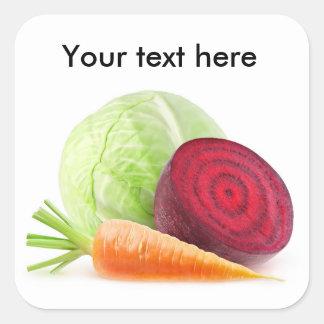 Schneiden Sie Gemüse Quadratischer Aufkleber