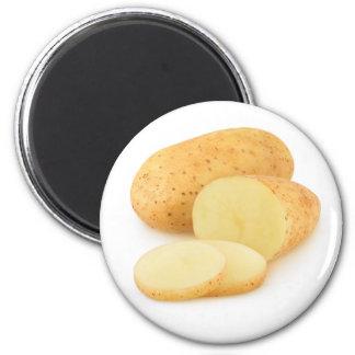 Schneiden Sie Kartoffeln Runder Magnet 5,1 Cm