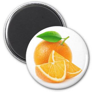 Schneiden Sie Orangen Runder Magnet 5,1 Cm