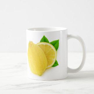 Schneiden Sie Zitrone Kaffeetasse