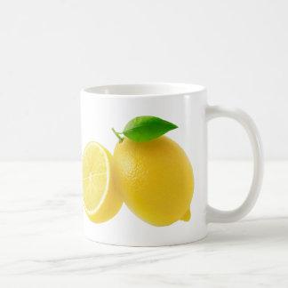 Schneiden Sie Zitronen Kaffeetasse