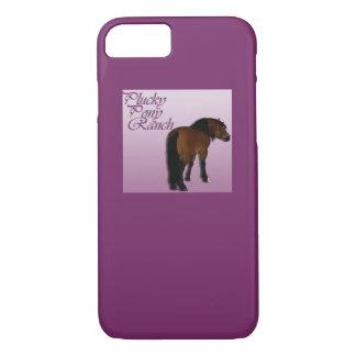 Schneidige Pony-Ranch auf Telefonabdeckung iPhone 8/7 Hülle