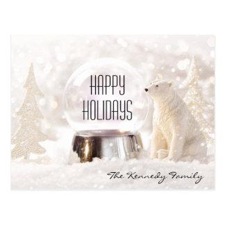 Schnekugel in der Winterszene Postkarte