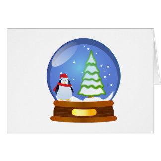 Schnekugel-Pinguinbaum Weihnachtskarte Karte