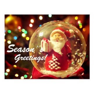 Schnekugel Weihnachtsmann Postkarte