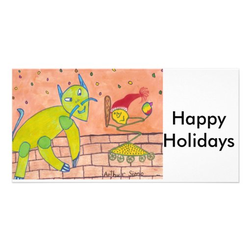 SCHNELL frohe Feiertage Individuelle Foto Karten