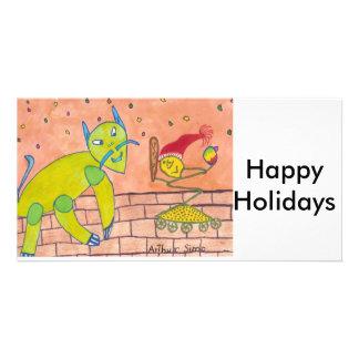 SCHNELL frohe Feiertage Photo Karten Vorlage