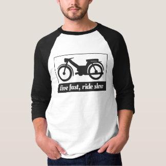Schnell, leben, die langsame Fahrt T-Shirt