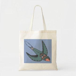 Schnell Swooping Schwalben-Taschen-Blau Tragetasche