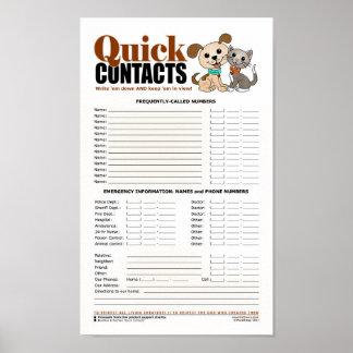 Schnelle Kontakte Poster