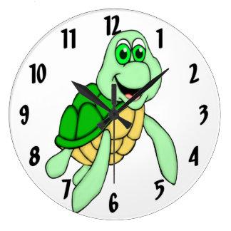 Schnelle Schildkröte Große Wanduhr