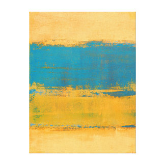 """""""Schnelle Vorwärts"""" orange und blaue abstrakte Leinwanddruck"""