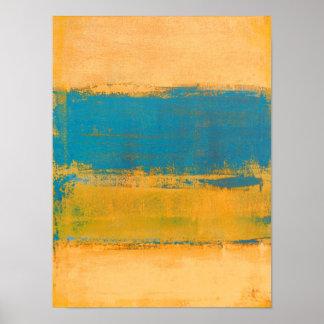 """""""Schnelle Vorwärts"""" orange und blaue abstrakte Poster"""