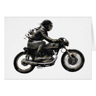 Schneller laufender Café-Rennläufer Motorcyle Karte