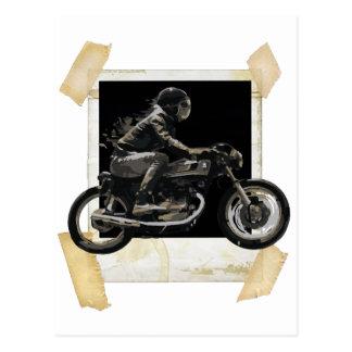 Schneller laufender Café-Rennläufer Motorcyle Postkarte