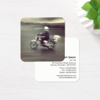 Schnelles Moped Quadratische Visitenkarte