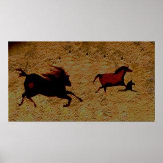Schnelles Pferd von Lascaux Poster