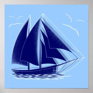 Schnelles Segeln nautisch Poster