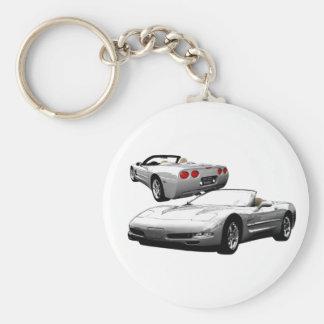 Schnelles Silber Schlüsselanhänger