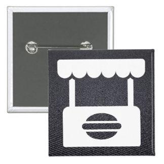 Schnellimbiß steht minimal quadratischer button 5,1 cm