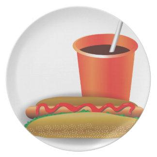 Schnellimbiß Teller