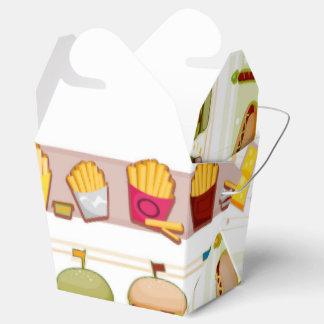 Schnellimbiss-Thema-Nahrungsmittelkasten Geschenkschachtel