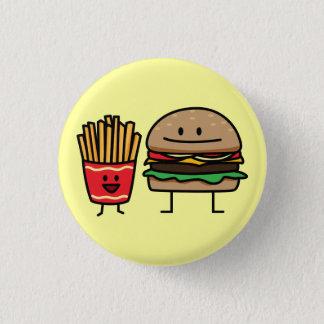 Schnellimbißbrötchenkram des Hamburgers und der Runder Button 3,2 Cm