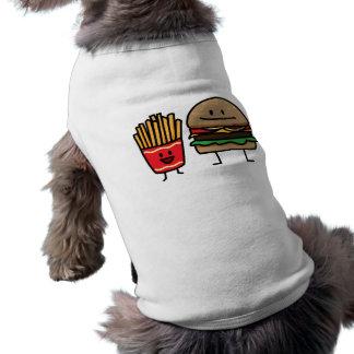 Schnellimbißbrötchenkram des Hamburgers und der Shirt