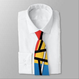 Schnitt der Linien u. der Flugzeuge - abstrakte Krawatte