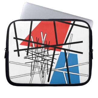 Schnitt der Linien u. der Flugzeuge - abstrakte Laptopschutzhülle