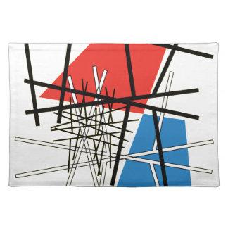 Schnitt der Linien u. der Flugzeuge - abstrakte Stofftischset